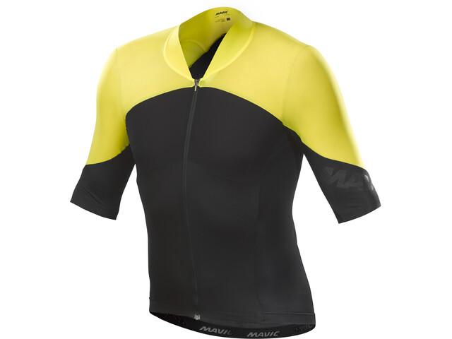 Mavic Cosmic Ultimate Kortärmad cykeltröja Herr gul/svart